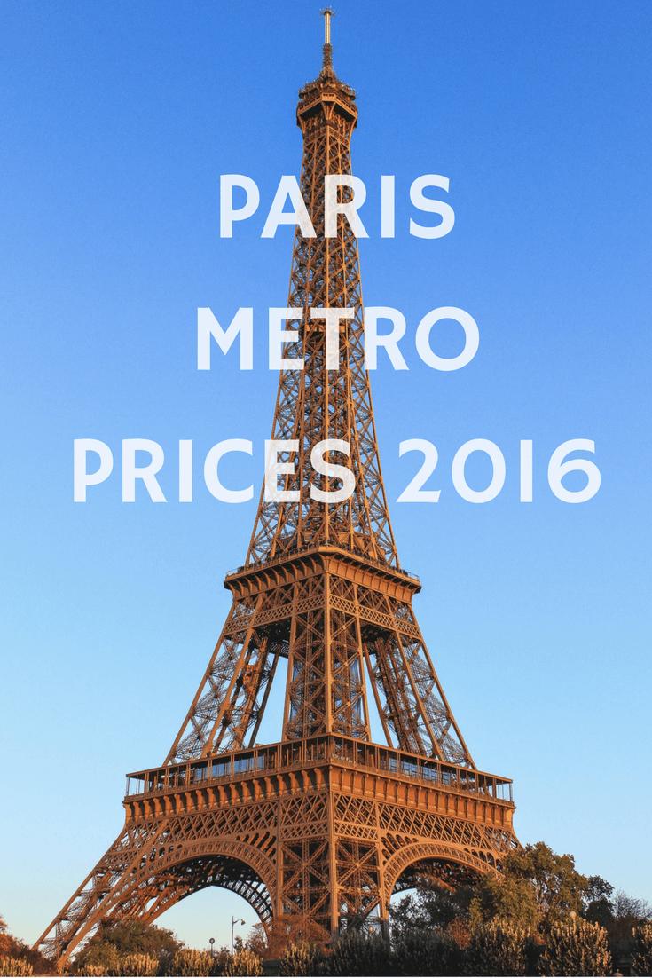 Paris Metro Prices