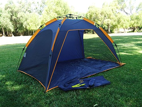 Genji Sports Push up instant Beach Tent Beach Sunshelter : beach tent umbrella - memphite.com