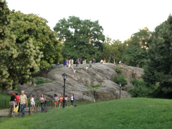 Rock behind Wollman Rink
