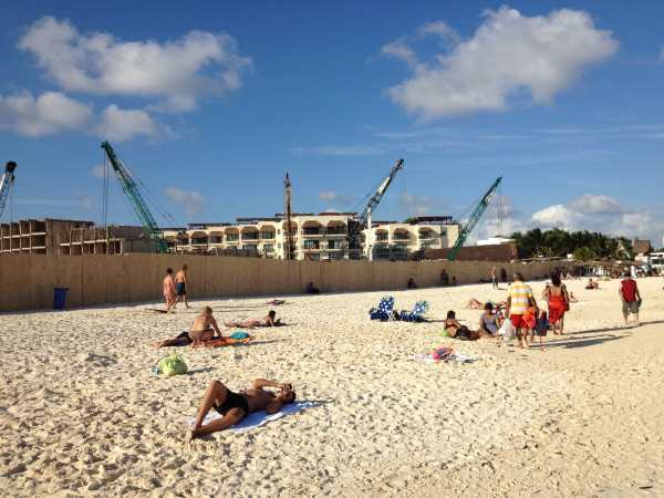 Construction on the beach