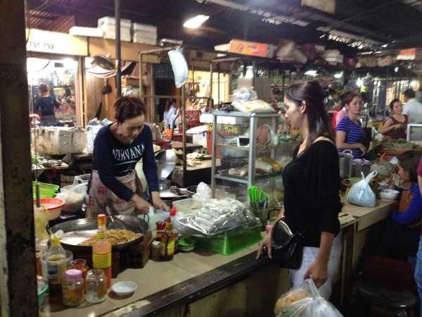 Food court Russian Market Phnom Penh Jan 2014