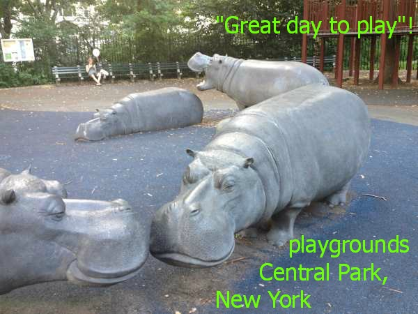 Hippo themed playground, Central Park, New York