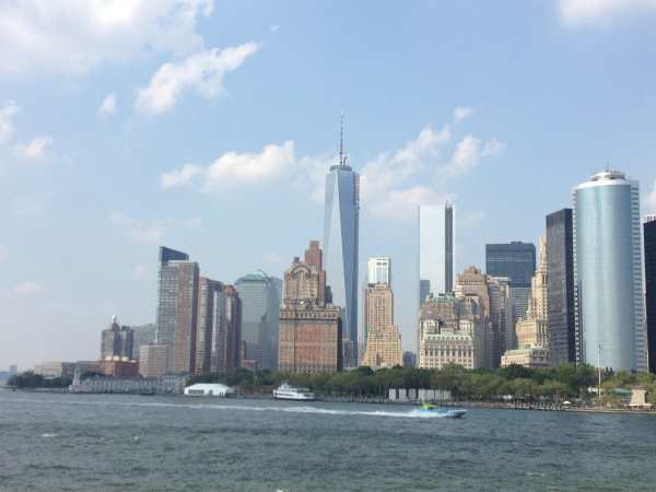 Lower manhattan from Stattan Is Ferry