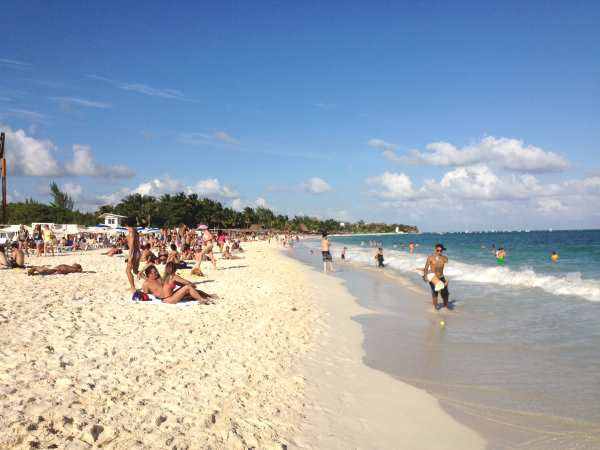 northern Playa del carmen beach