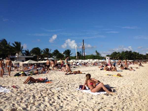 Northern beach, Playa del Carmen