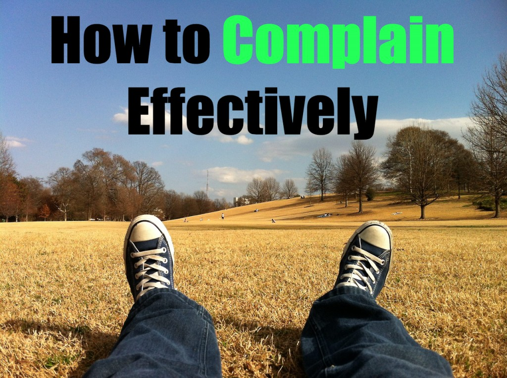 complain effectively