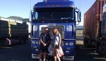 hitchhiking new zealand solo woman trucks
