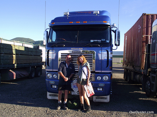 hitchhiking new zealand solo woman trucks